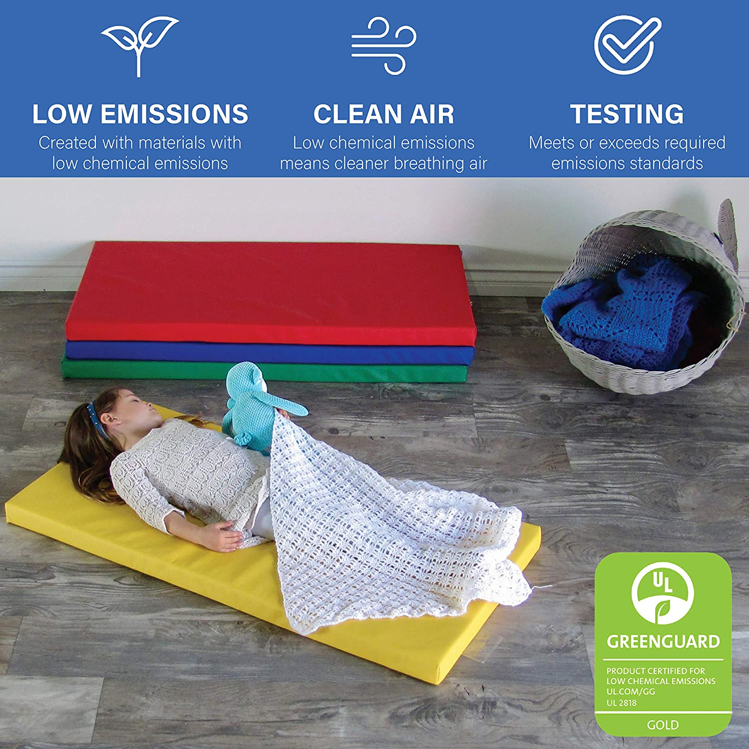 Fdp Softscape Sleepy Time Children S Non Folding Foam Rest Nap Mat With Non Slip Bottom For Home Daycares Classrooms 2 Inch Thick With Name Tag Holder 4 Piece Assorted 12269 As Amazon Com Industrial Scientific
