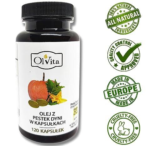 OlVita: Cápsulas de aceite de semilla de calabaza virgen ...