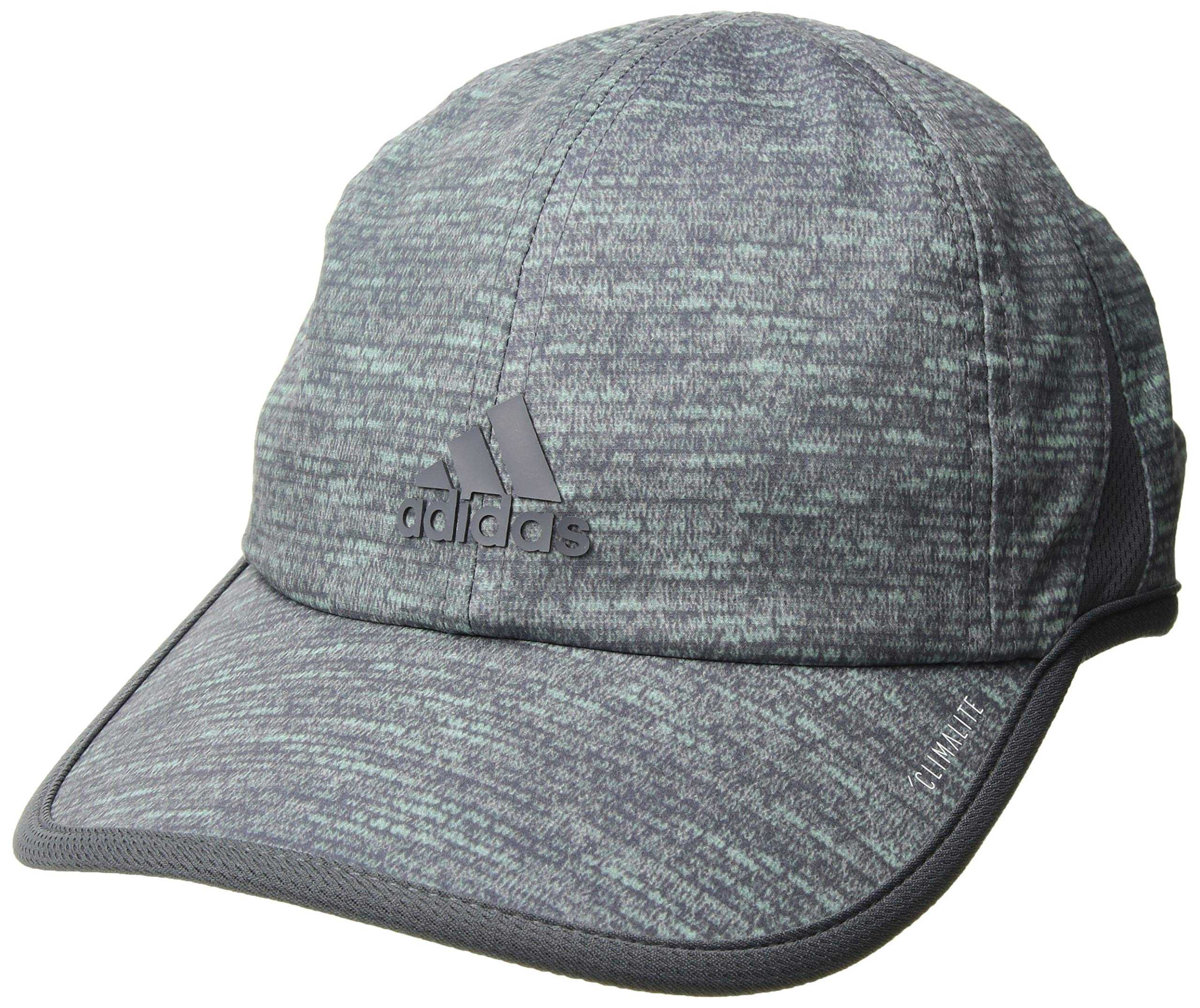 adidas Women's Superlite Pro Relaxed Adjustable Cap, Clear Mint Jersey Fleck/Onix, One Size
