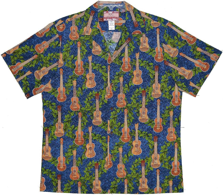 RJC 5X Big Mens Ukulele Zigzag Vines Hawaiian Shirt