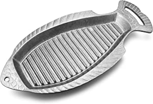 Wilton Armetale Gourmet Grillware Grilling Pan, Fish, 18.5-Inch