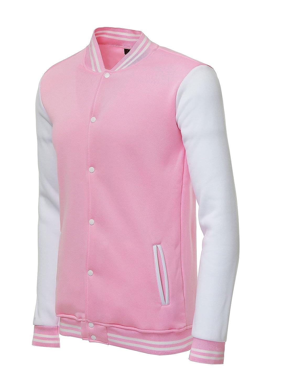 Trifuness Varsity Jacket Letterman Jacket Baseball Jacket with Long Sleeve Banded Collar DGFD-0011