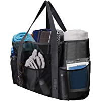 Mesh Beach Bags and Totes for Women, 40L Extra Large Beach Bag with Pockets for Pool, Lightweight Foldable Waterproof…