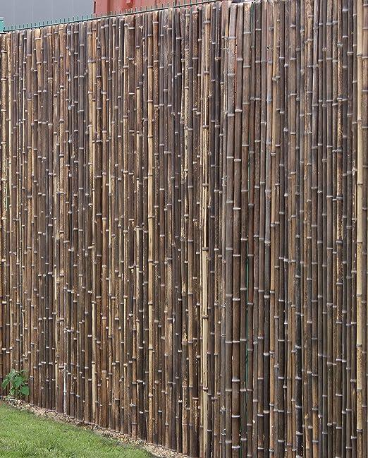 DE-COmmerce - Valla de bambú robusta para la vista de la valla ATY NIGRA de alta