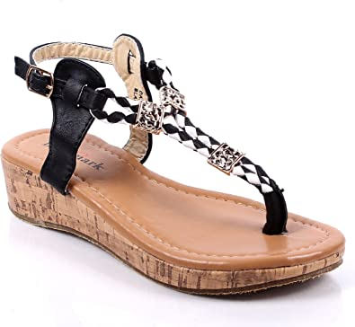 weyoh Youth Size Casual Side Buckle Dressy Blink Kids Girls Rhinestone Sandals Shoes New Without Box