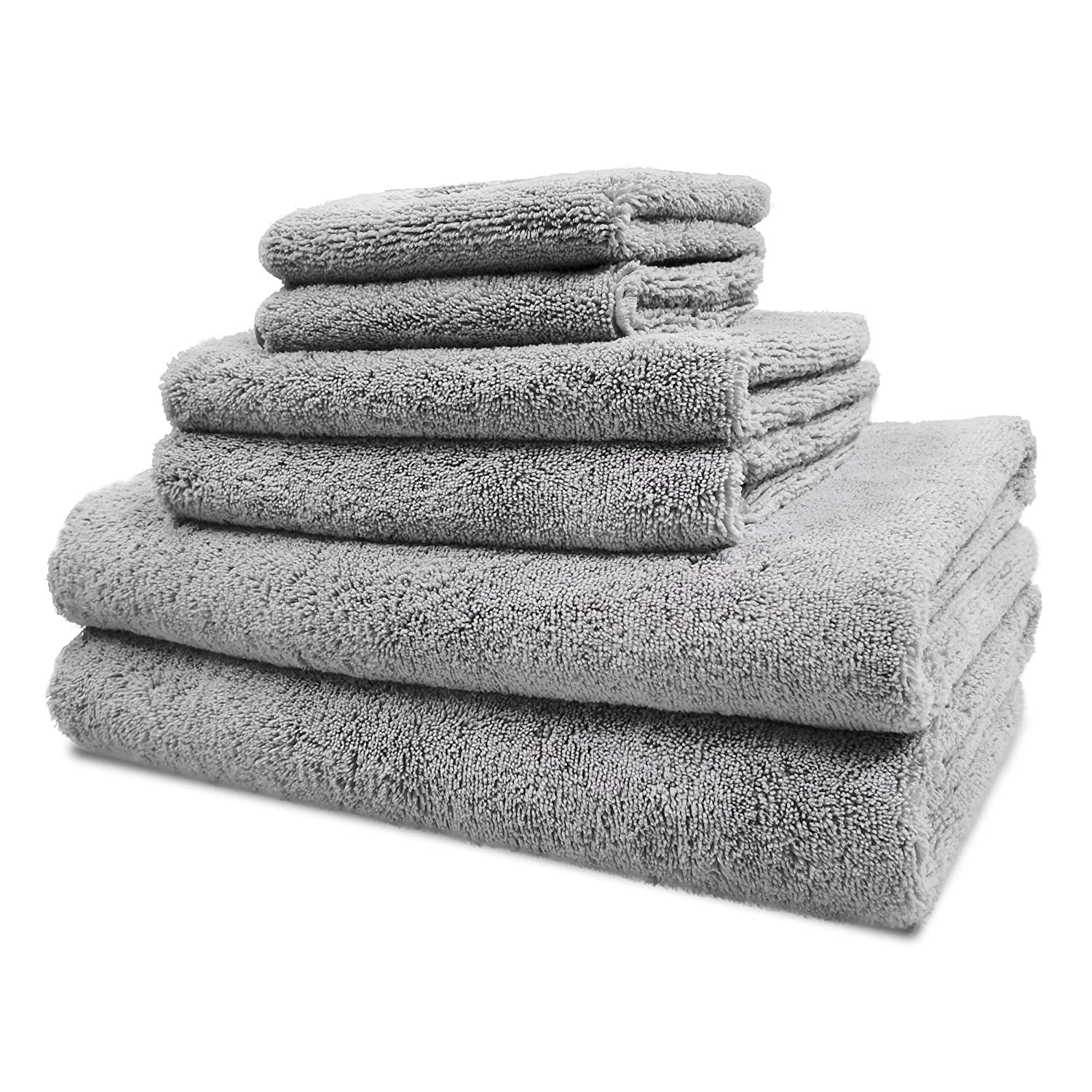 Polyte Luxury Microfiber Bath Towels Lint Free
