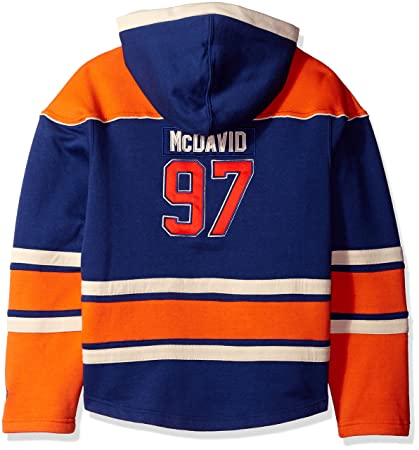 bf340c0ce Old Time Hockey NHL Edmonton Oilers Conor McDavid Youth Player Lacer Name    Number Hoodie