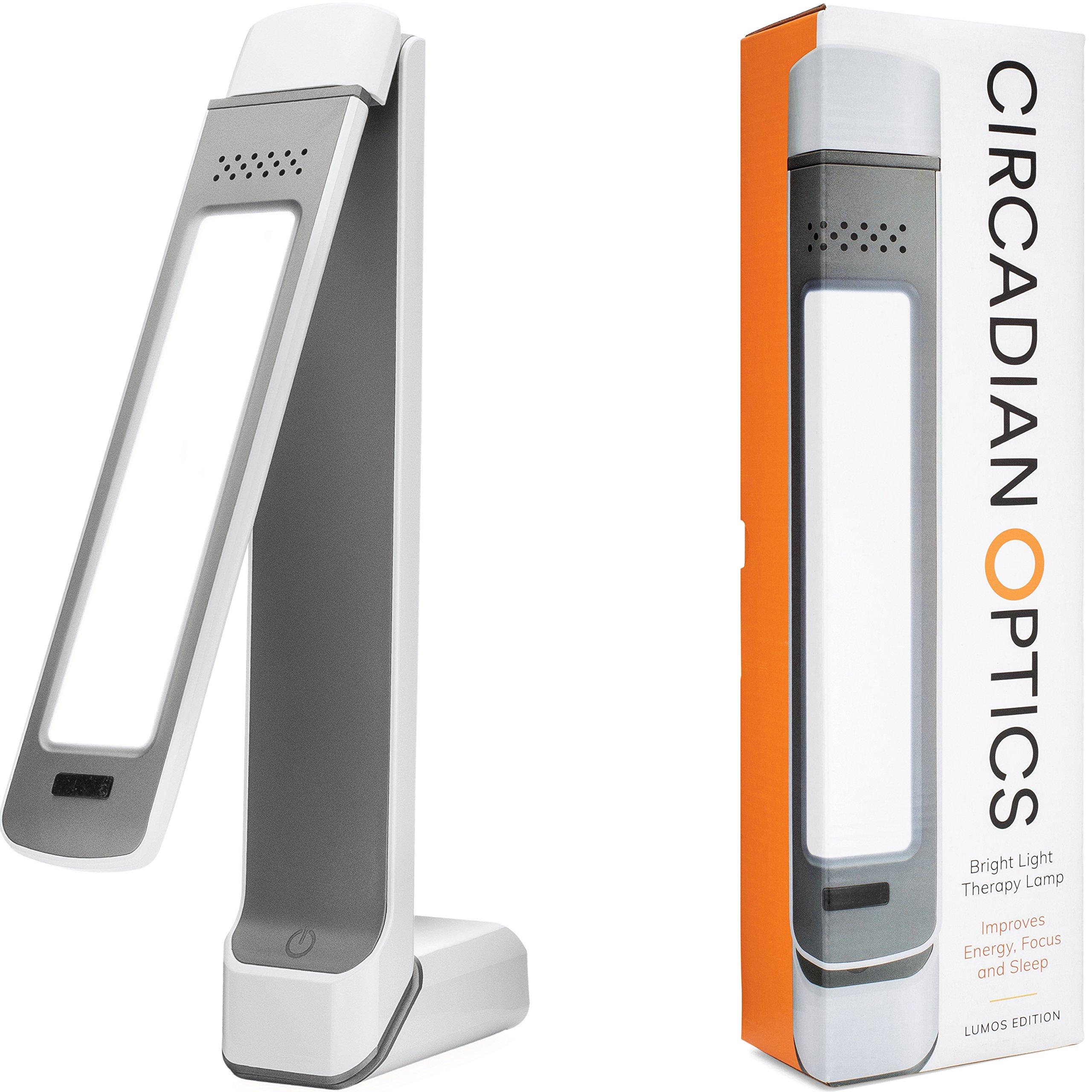 Circadian Optics Lumos 2.0 Light Therapy Lamp | As Seen On Shark Tank | 10,000 LUX Ultra Bright LED | Full Spectrum UV Free | Adjustable Light Panel | Turn On Your Day by Circadian Optics