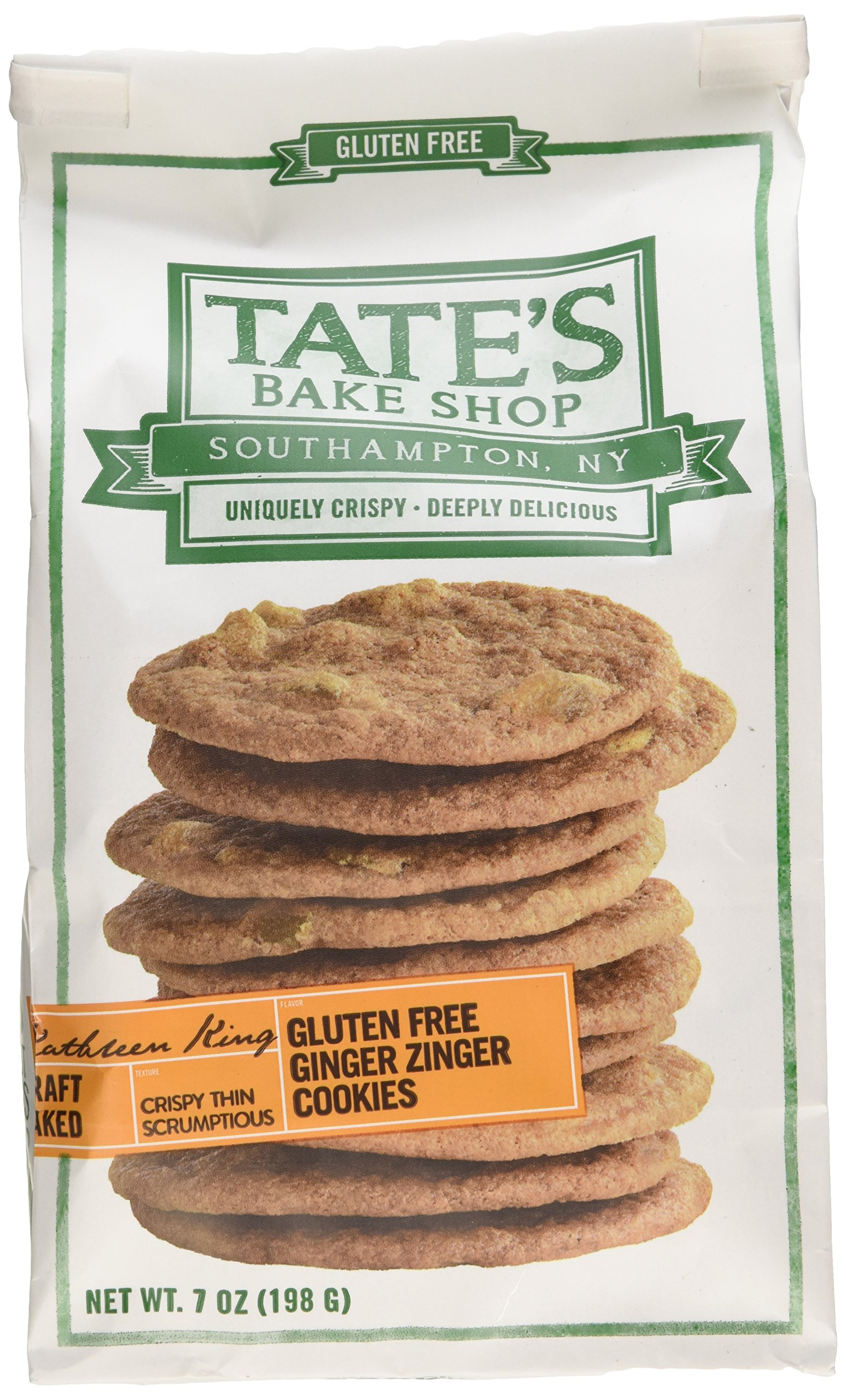 Tate's Bake Shop Gluten Free Ginger Zinger Cookies, 7oz Bag, Pack of 3 by Tate's Bake Shop