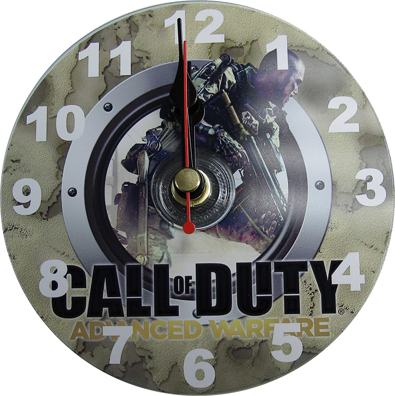 Sticker wall clock uk - Call Of Duty Advanced Warfare Cd Clock Cd4 Wall Hanging Or Desk Stand Inc Gift