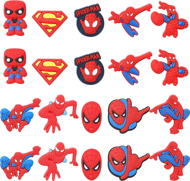 4 Styles Superhero Hulk Ironman Spiderman Shoe Charms for Crocs Clog Shoes Gift