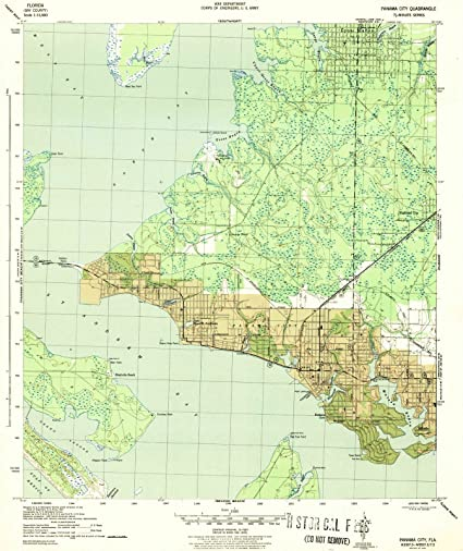 Topographic Map Of Panama.Florida Maps 1943 Panama Fl Usgs Historical Topographic Map