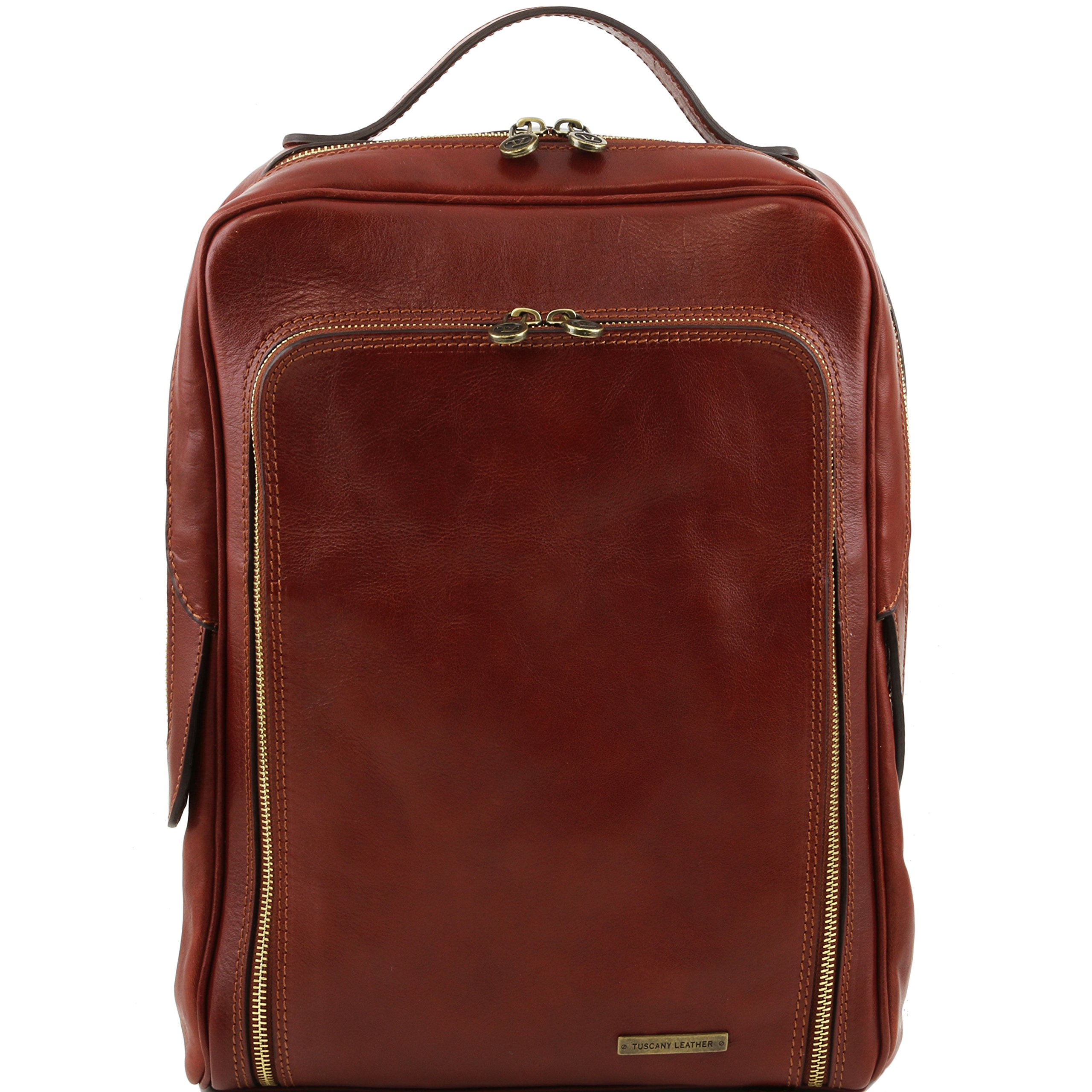 Tuscany Leather Bangkok Leather laptop backpack Brown Leather Backpacks