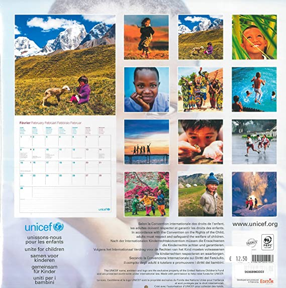 Calendrier mural Unicef planete enfants: Amazon.fr: Fournitures de