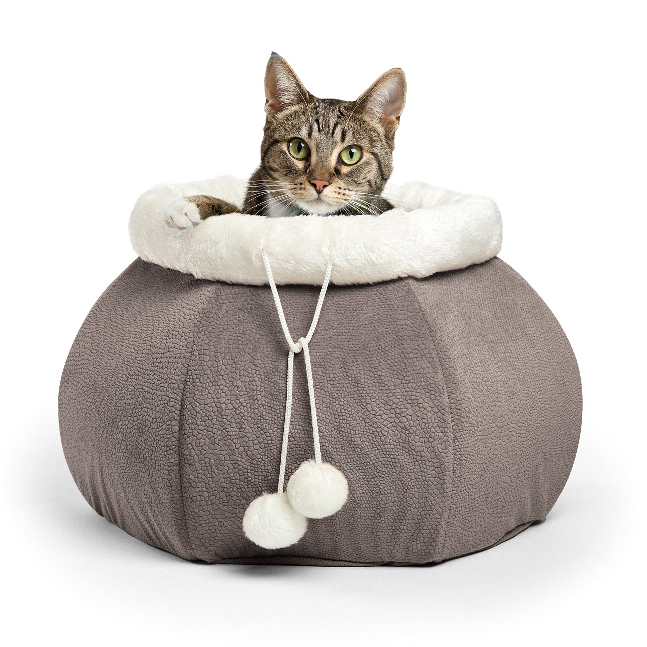 Best Friends by Sheri 4-in-1 Kitty Pouch-Cuddler in Ilan, Grey, 14''x14''x10''