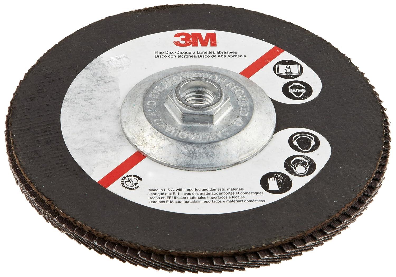 3M Flap Disc 577F 60 Grit Dry//Wet Pack of 1 Pack of 1 7 Diameter 5//8-11 Thread Size 5//8-11 Thread Size 7 Diameter Alumina Zirconia T27