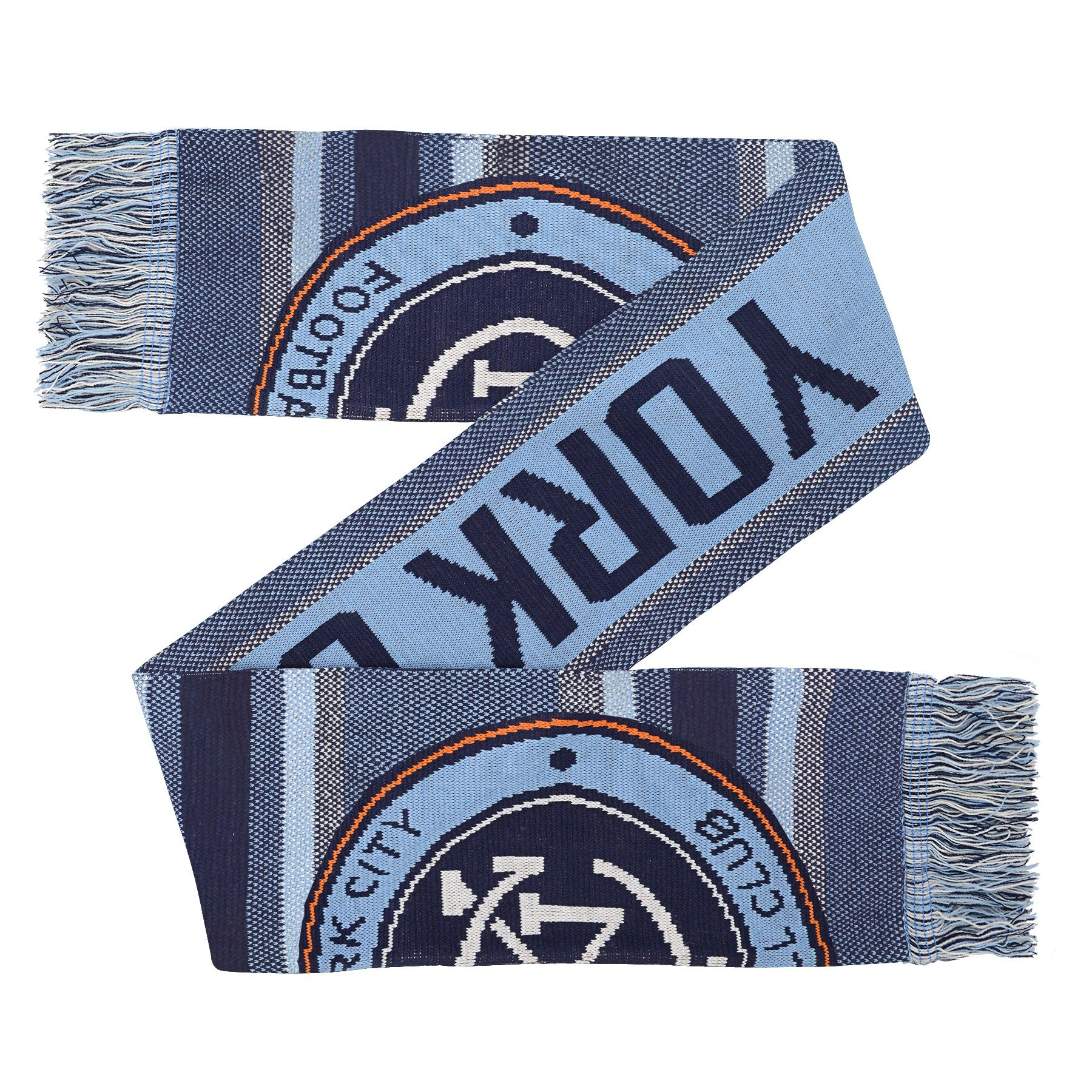 Outerstuff MLS Nycfc Youth Boys Fan Scarf, 1 Size, Bahia Blue