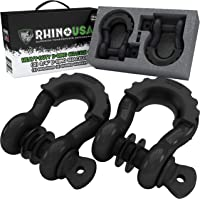 """$24 » Rhino USA D Ring Shackle (2 Pack) 41,850lb Break Strength – 3/4"""" Shackle with 7/8 Pin for use…"""