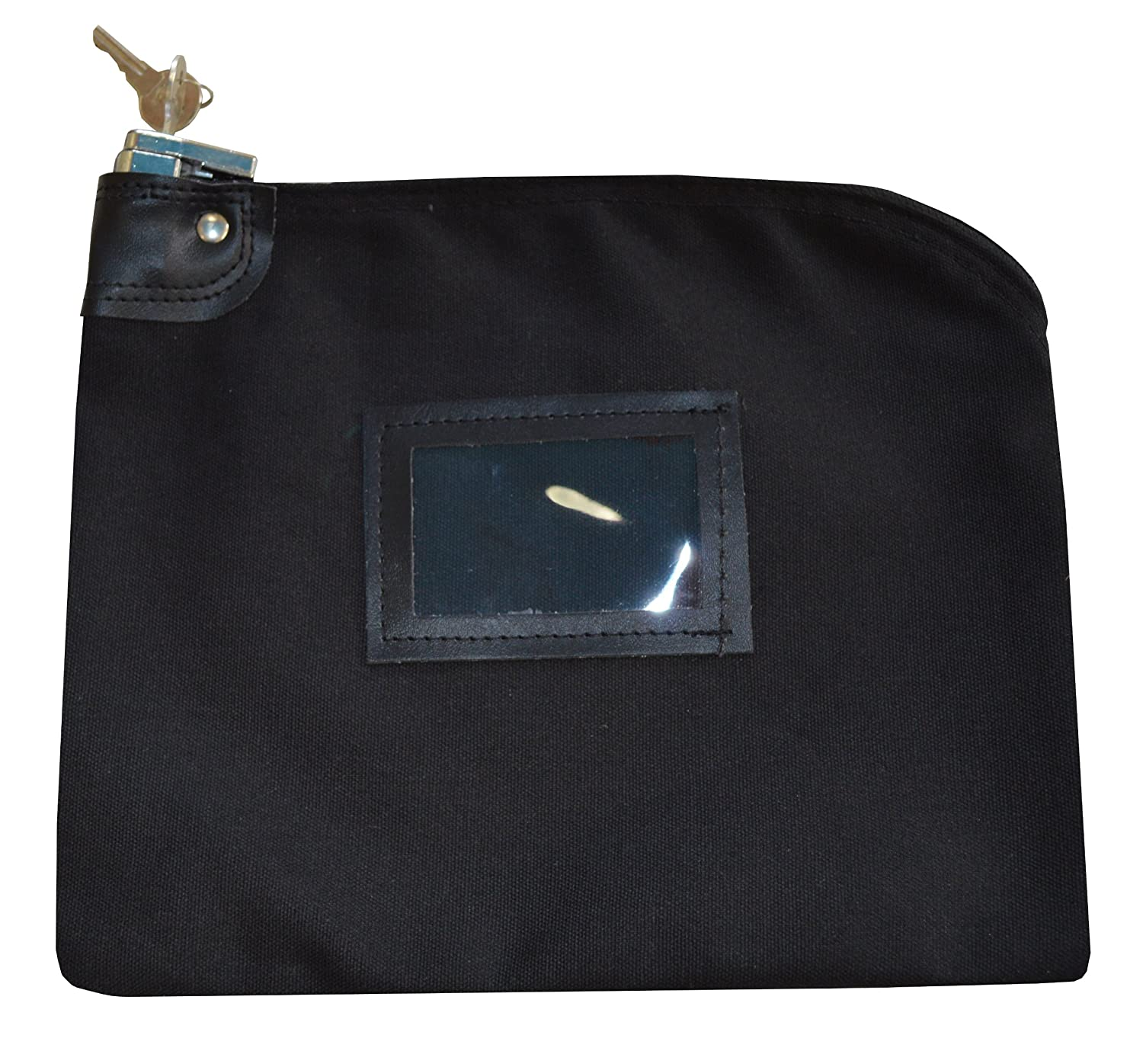 Locking Bank Bag Canvas Keyed Security (Black) Cardinal Bag Supplies 76161229