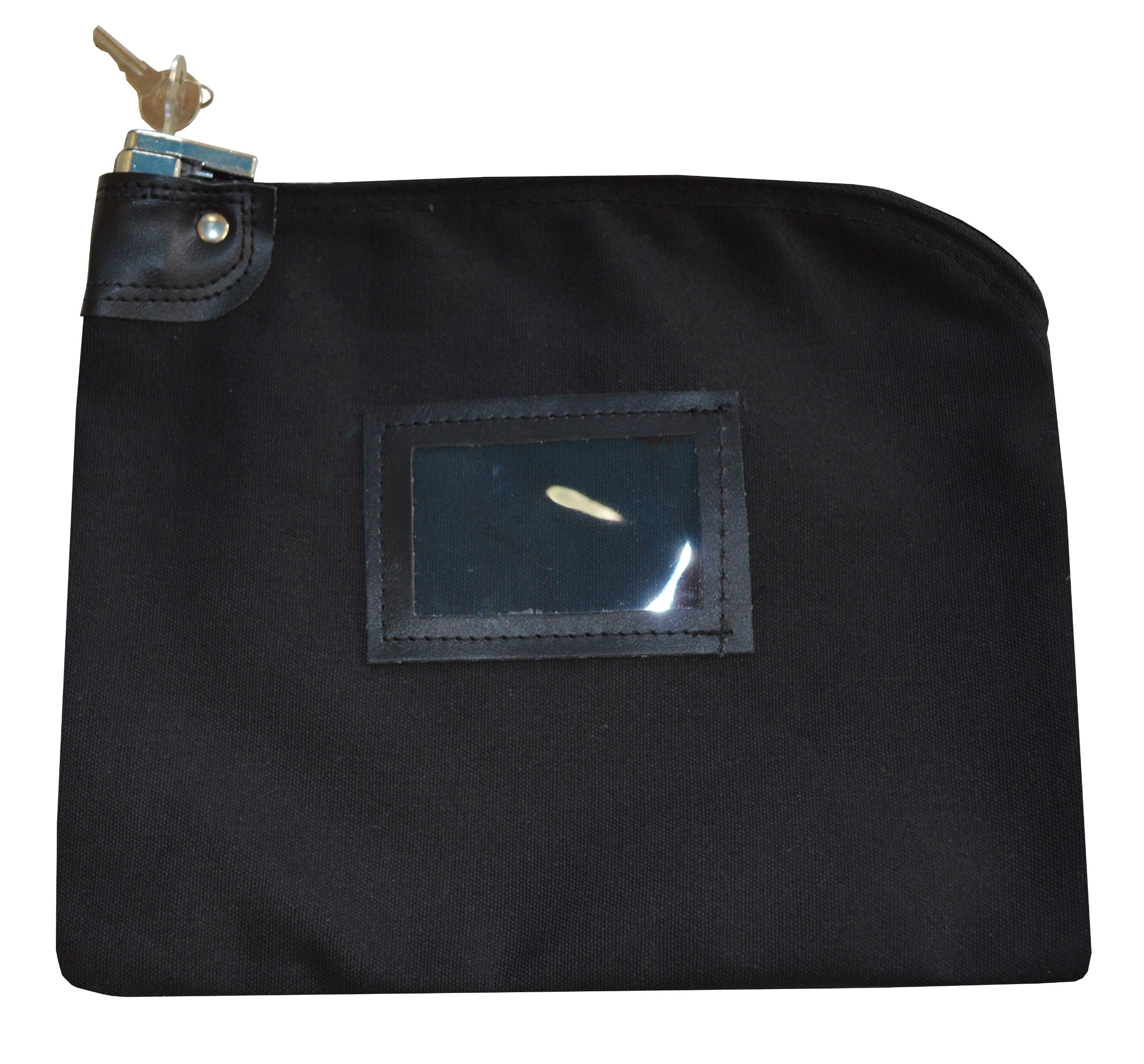 Locking Bank Bag Canvas Keyed Security (Black) by Cardinal Bag Supplies (Image #1)