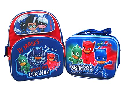 "PJ Masks 3D Pop Up 12"" Backpack and Lunch Box Set - On ..."