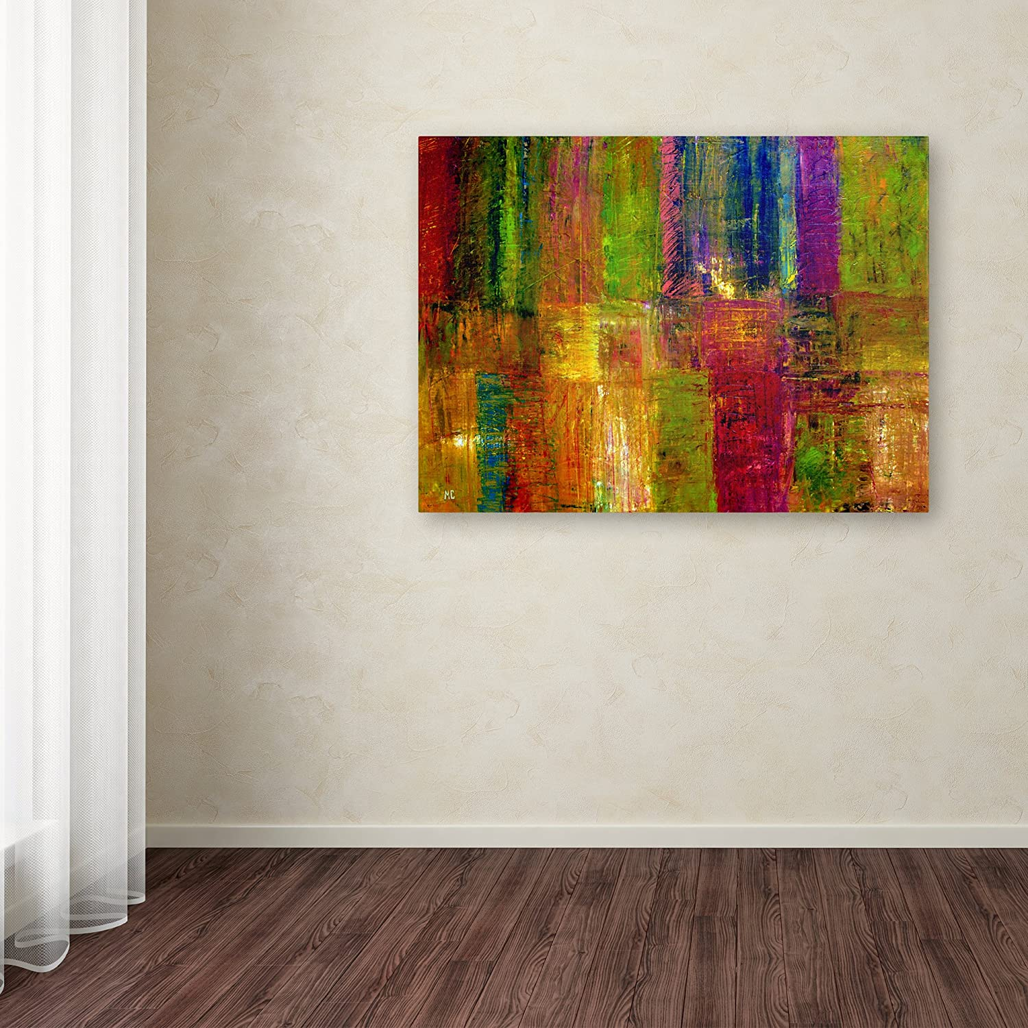 Trademark Fine Art Color Panel Abstract by Michelle Calkins Canvas Wall Art, 24x32-Inch