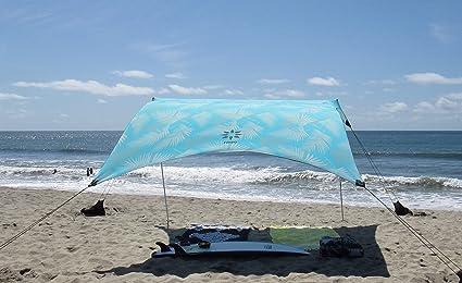 x 2,7 m de Hauteur Coins renforc/és et Poche r/éfrig/ér/ée 2,1 m 9 pi Color 2,7 m 9 pi 7 pi Bleu Marin Neso Grande Tente de Plage Tents