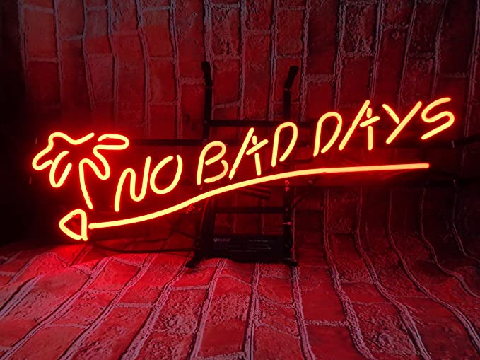 NO BAD DAYS Neon Signs, 24(w) x 10(h) inch Neon Lights made