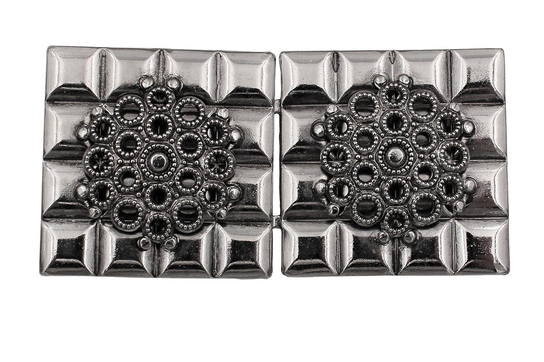 1 St/ück 60mmx35mm Steg ca.30mm Made in Germany Hartmann-Kn/öpfe liebenswerte Silber antik mittelgross Trachten Sch/ürzen Dirndl Schliesse Schnalle Verschluss Haken Metall ca