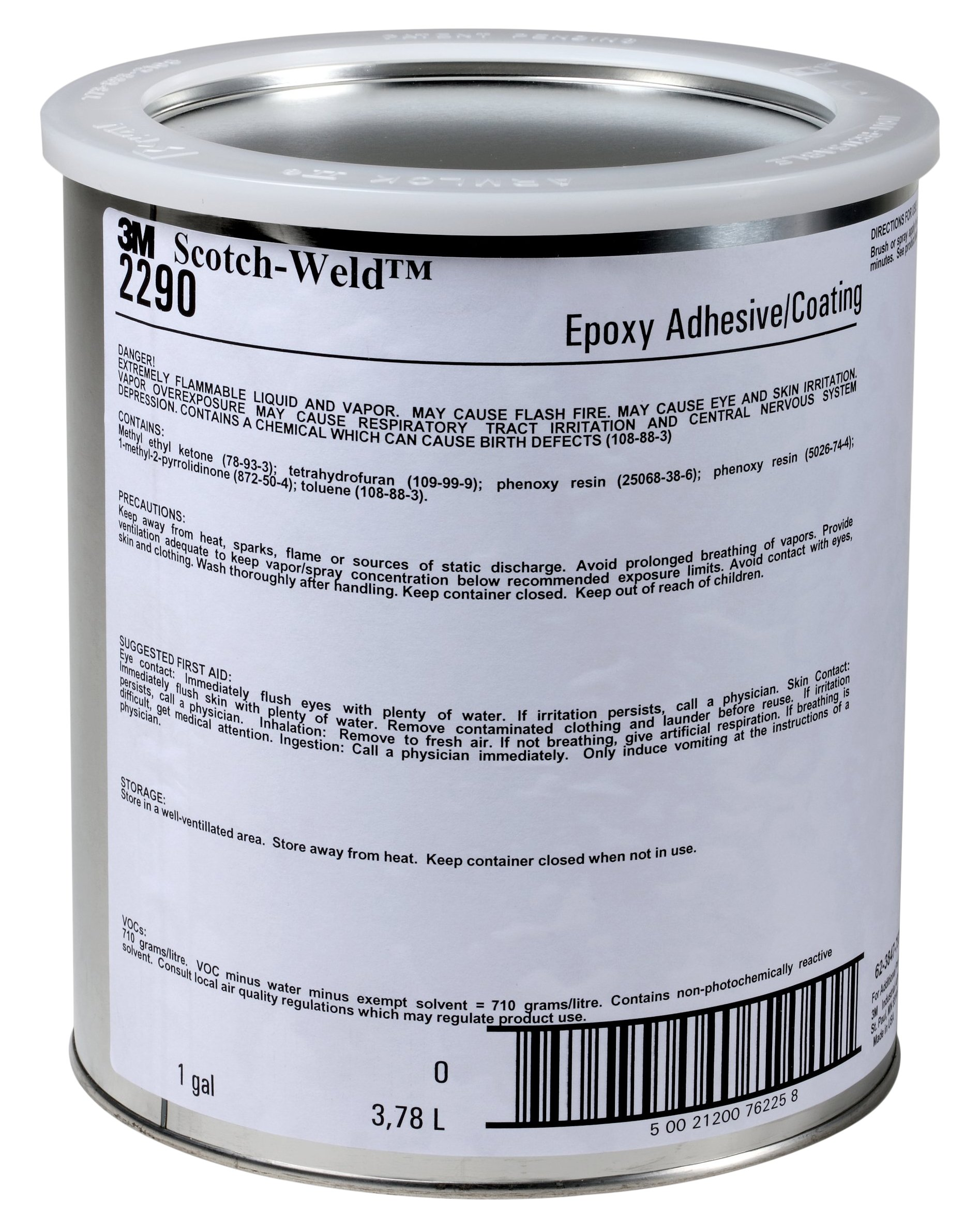 3M Scotch-Weld 76225 Epoxy Adhesive 2290, Amber, 1 gal