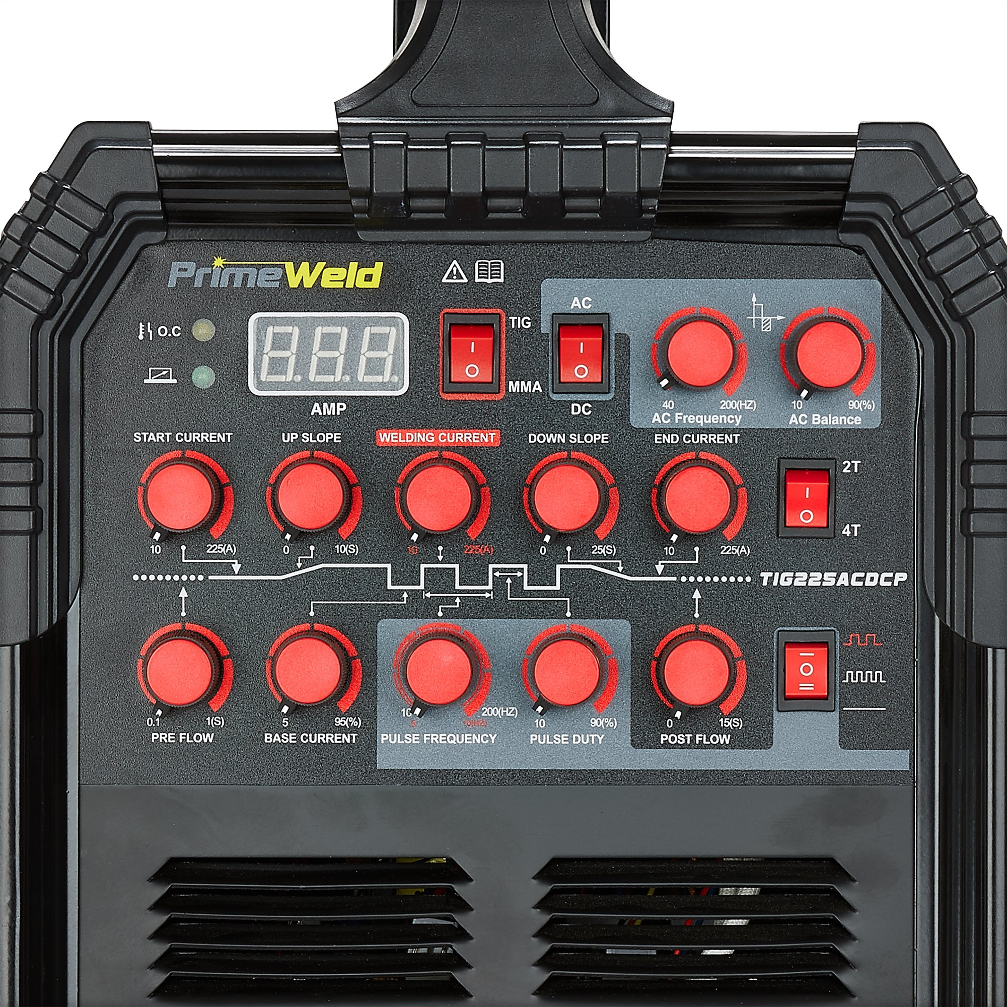 PRIMEWELD TIG225X 225 Amp IGBT AC DC Tig/Stick Welder with Pulse CK17 Flex Torch and Cable 3 Year Warranty by PRIMEWELD (Image #3)
