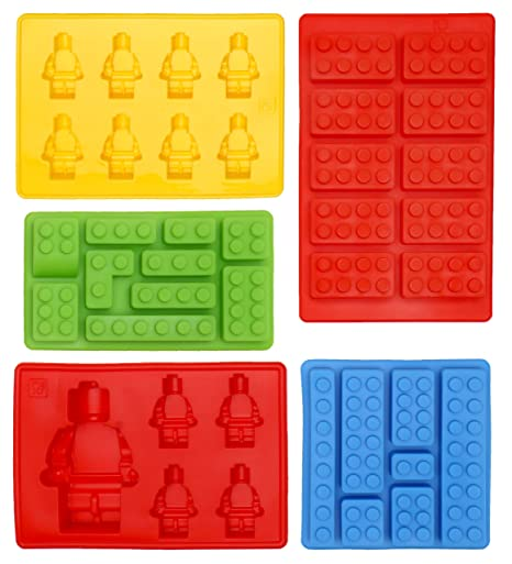 Lego Shaped Ice Cube Tray Silicone Moulds, Candy Moulds, Chocolate ...