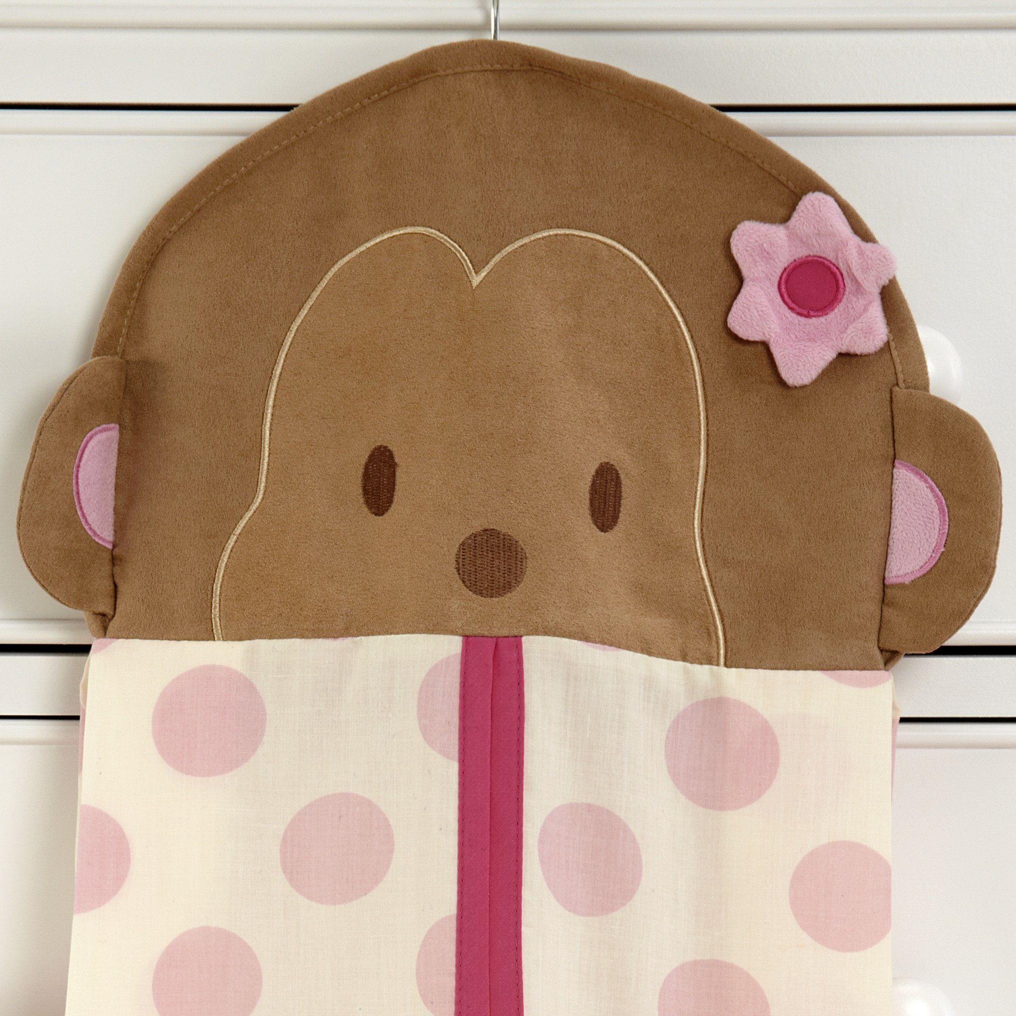 Carter's Jungle Collection Nursery Diaper Stacker, Pink/Lime/Brown/Tan by Carter's (Image #2)