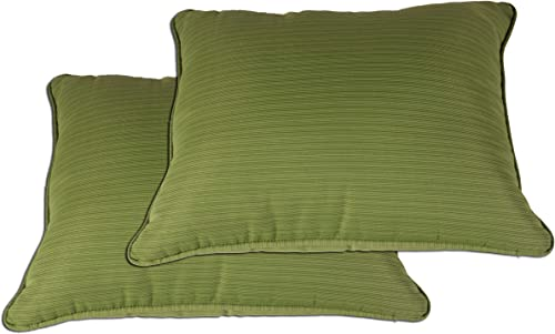 Comfort Classics Inc. Outdoor/Indoor Patio Throw Pillow,in Spun Polyester Olive Green Set of 2 27x23x5