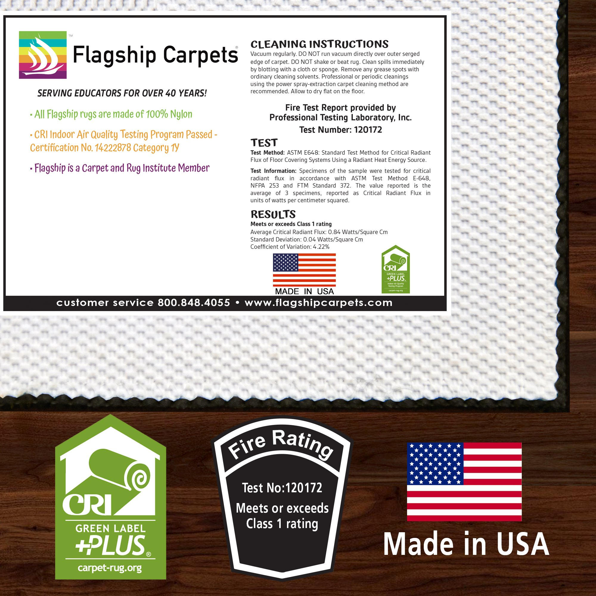 Flagship Carpets CE190-28W Fun at School Rug, Explore Health and Wellness As Well As STEAM Subjects, Children's Classroom Educational Carpet, 5' x 8', 60'' Length, 96'' Width, Multi-Color by Flagship Carpets (Image #4)