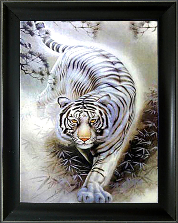 [新登場] 3D + 額入りレンチキュラー3D写真ポスター アートワーク 壁装飾 ホログラフィック写真 錯視アニメーション画像 (黒い不フレーム付き) Frame: 14.50