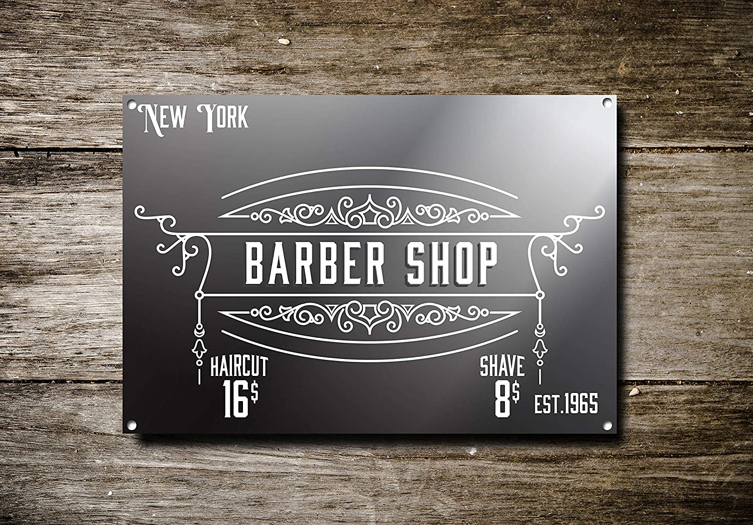Fhdang Decor Barber Shop Sign, Signo de Metal, Letrero de ...