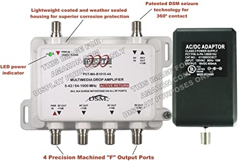 PCT 4-Port RF Signal Amplifer With Active Return