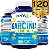 100% Pure Garcinia Cambogia Extract 95% HCA - 120 Capsules - 2100 mg Appetite Suppressant, Non-GMO & Gluten Free…