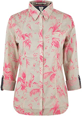 Guess Agatha Cotton Tropical Print Shirt Multicoloured M  Amazon.co.uk   Clothing 99848f4d7ee6