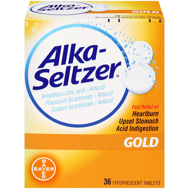 Alka-Seltzer Gold Tablets- Non-Aspirin, 36 Count Box: Amazon.es ...