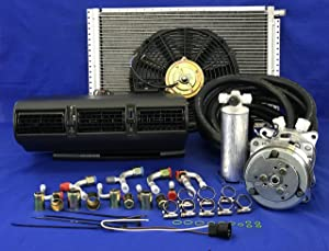 A/C KIT Universal Under Dash Evaporator 405 B KIT AIR Conditioner 12V W/Electrical Harness