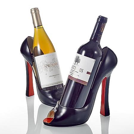 Purelifestyle 2 Pieces 85 Porcelain High Heel Shoe Wine Bottle