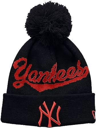 9ac6b700ea9 ... where can i buy new era boys bobble knit new york yankees hat blue one  size
