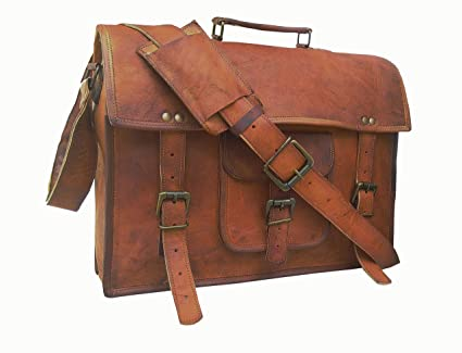 fd99d92ae0d0 Image Unavailable. Image not available for. Color  Men s Auth Real Leather  Messenger Bags ...
