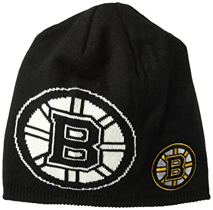 63c3477e1 Amazon.com   adidas NHL Boston Bruins Glow N The Dark Beanie Hat ...