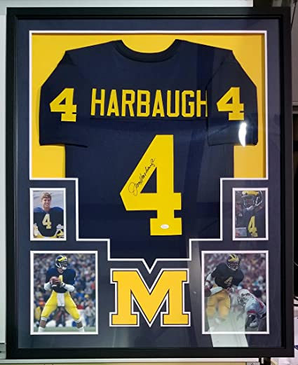 Jim Harbaugh Autographed Signed Jersey Framed Michigan Wolverines ... 5f2c30c15