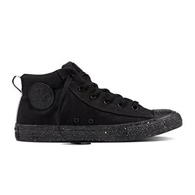 4a677ea3452 Image Unavailable. Image not available for. Color  Converse Chuck Taylor  All Star Street Mid Sneakers Black White Black ...