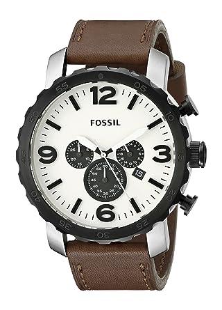 Fossil JR1390 Lederarmband Chronograph