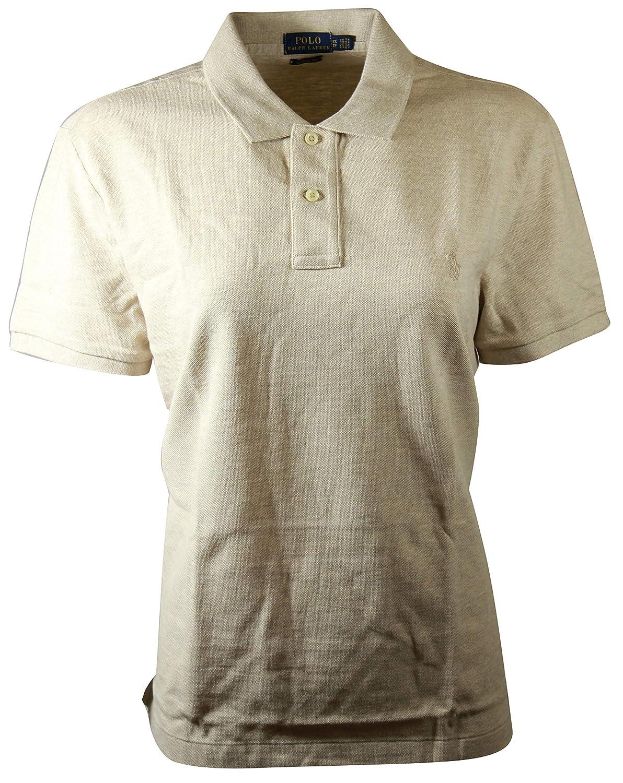 dbb18aae RALPH LAUREN Polo Womens Classic Fit Mesh Polo Shirt (Small, Dune Tan) at  Amazon Women's Clothing store: